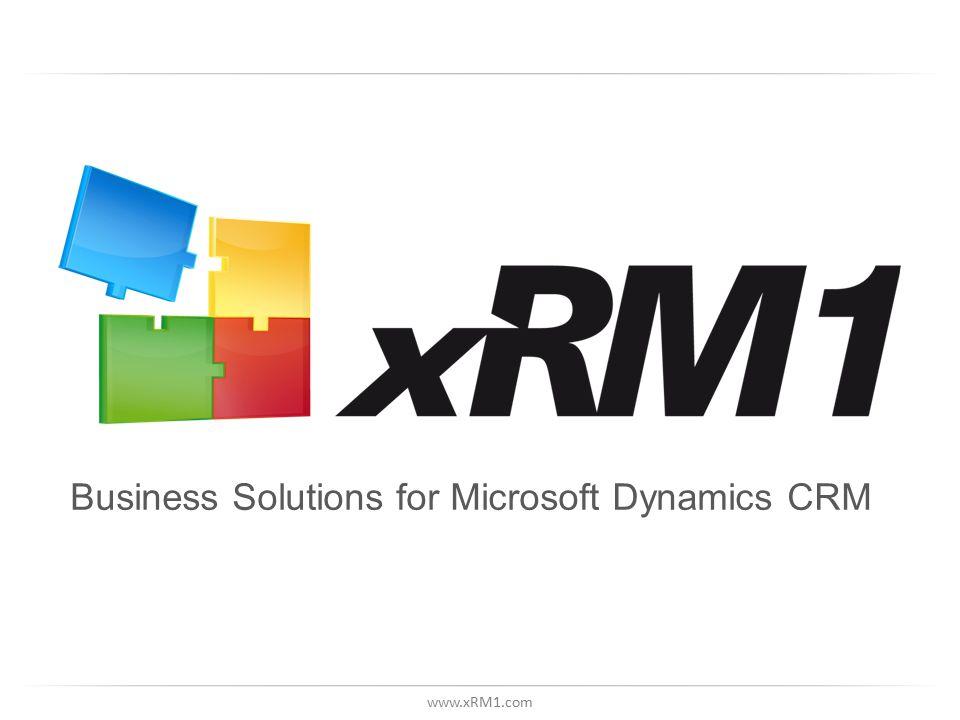 www.xRM1.com Business Solutions for Microsoft Dynamics CRM
