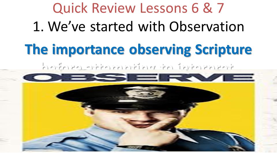 Quick Review Lessons 6 & 7 1.