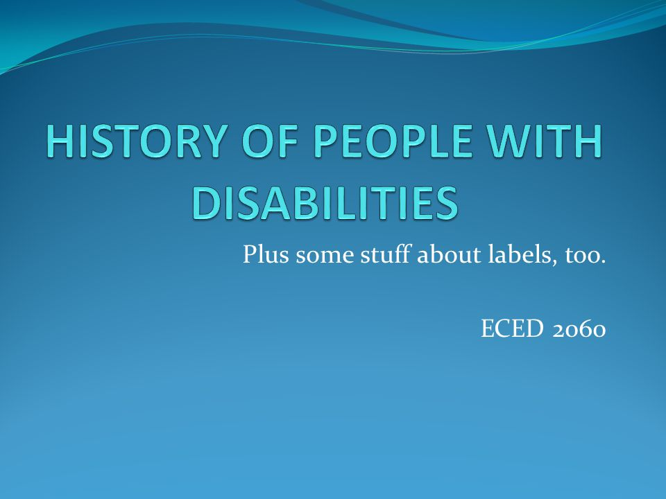 Plus some stuff about labels, too. ECED 2060