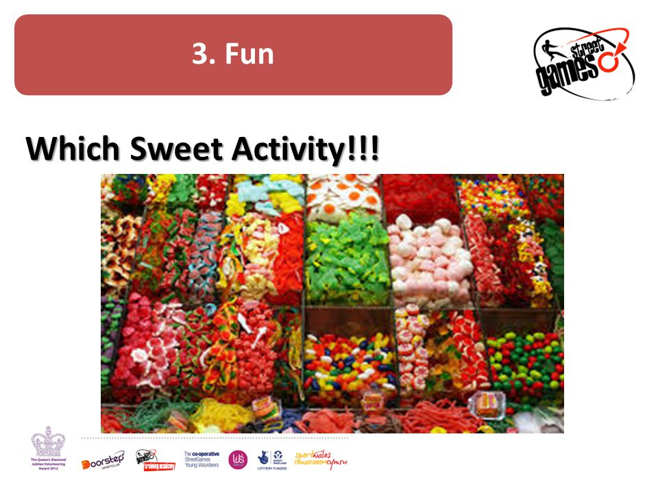 Fun Discussion – How can the 'which sweet' activity be developed to work in your StreetGames project.