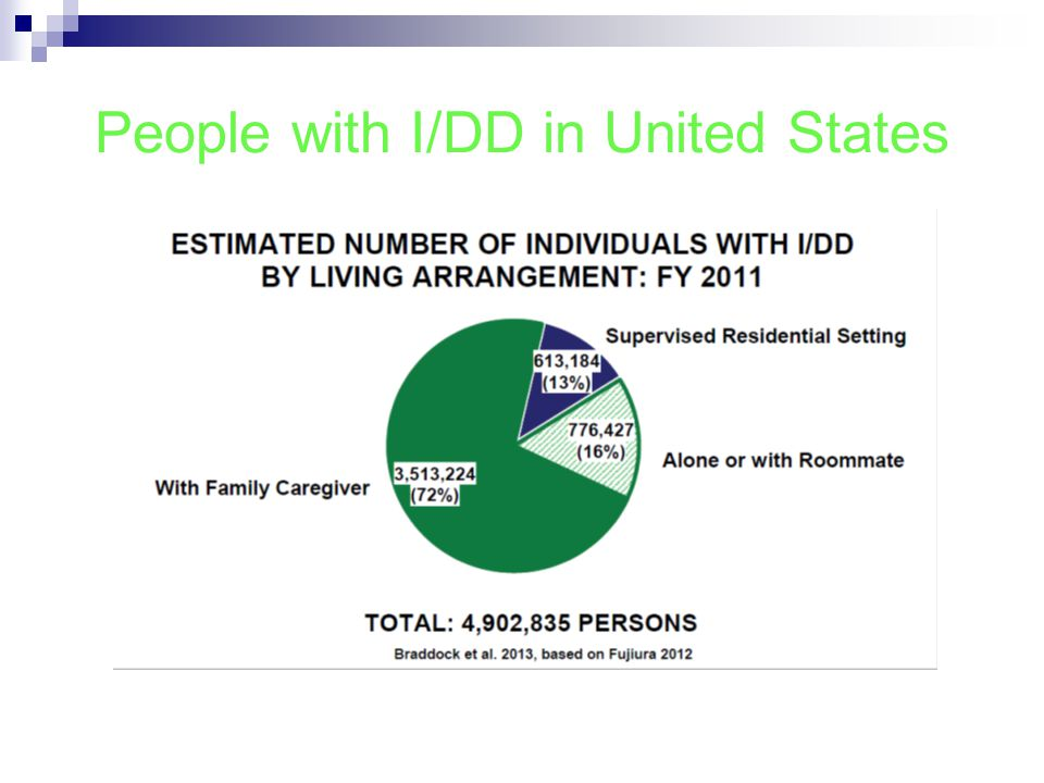 People with I/DD in United States