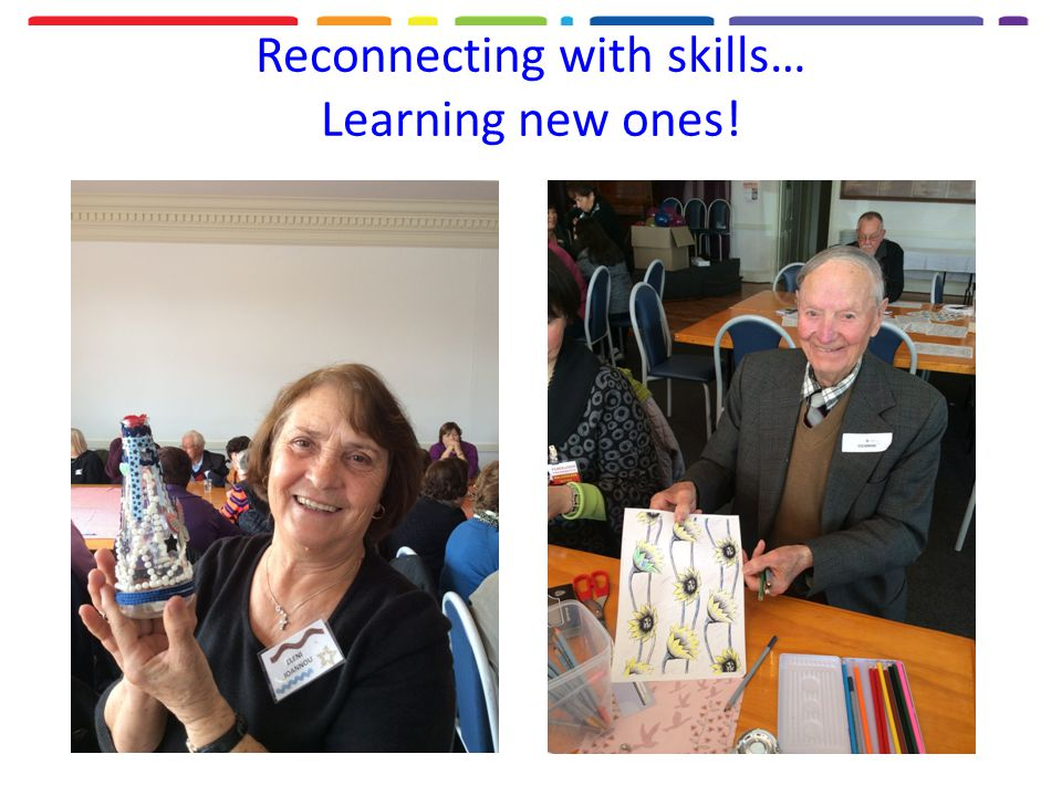 Reconnecting with skills… Learning new ones!
