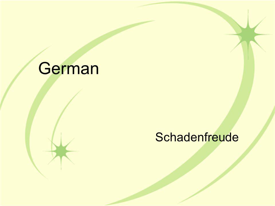 German Schadenfreude