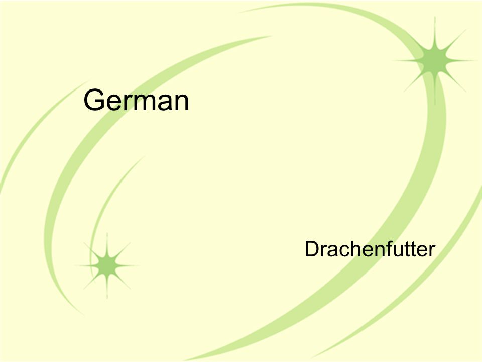 German Drachenfutter