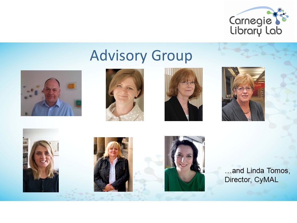 Advisory Group …and Linda Tomos, Director, CyMAL
