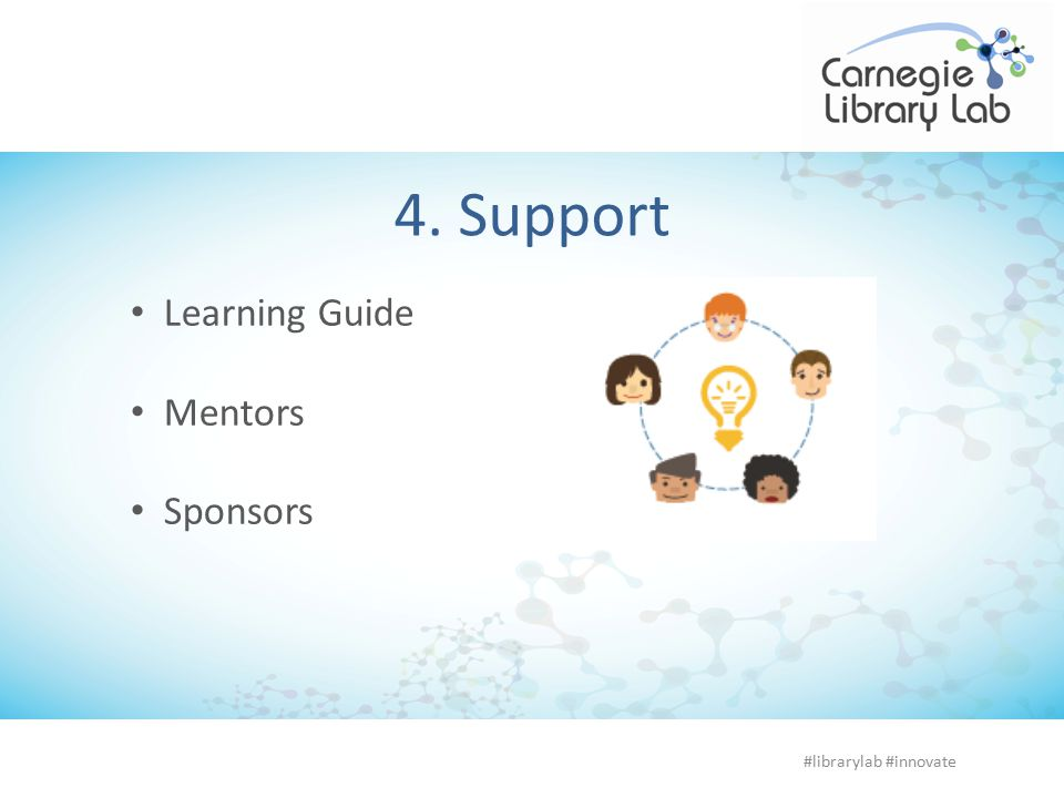 4. Support Learning Guide Mentors Sponsors #librarylab #innovate