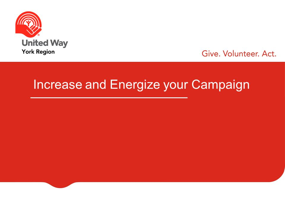 Increase and Energize your Campaign