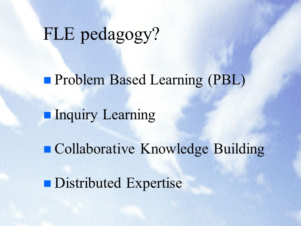 Design Principles of the FLE