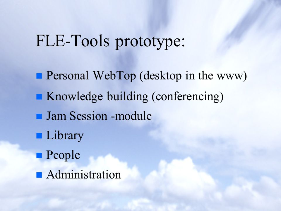 What is the FLE-Tools prototype.