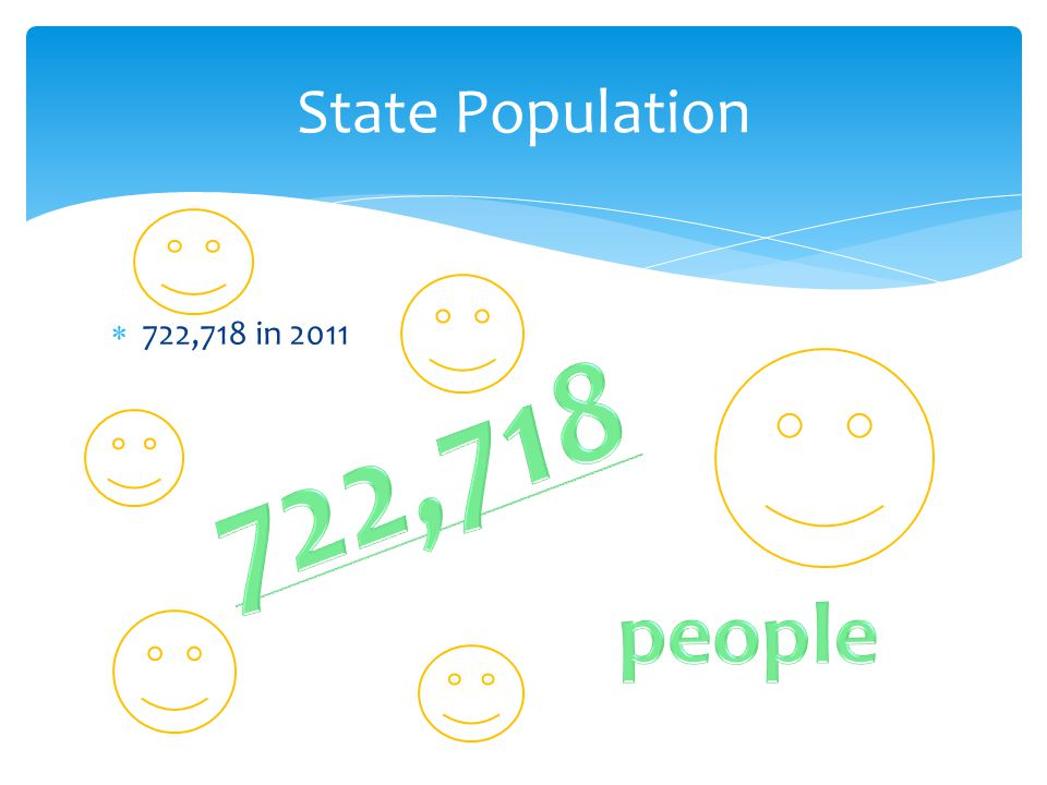  722,718 in 2011 State Population