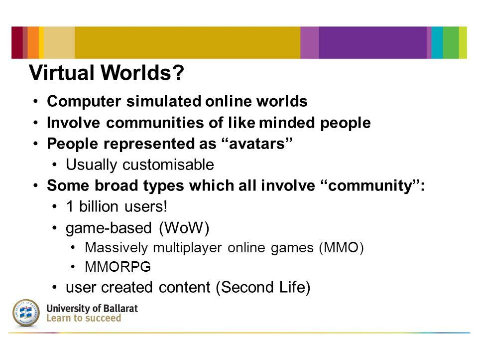 Virtual Worlds.