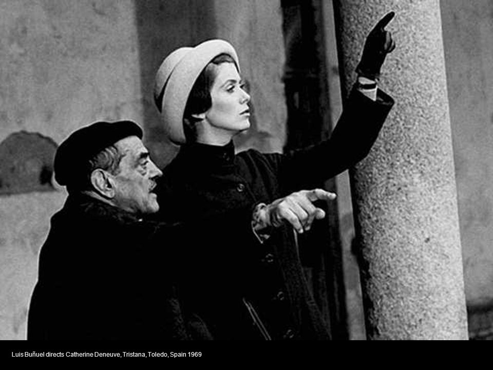 Federico Fellini gives direction during a take, Satyricon, Rome, Italy 1969