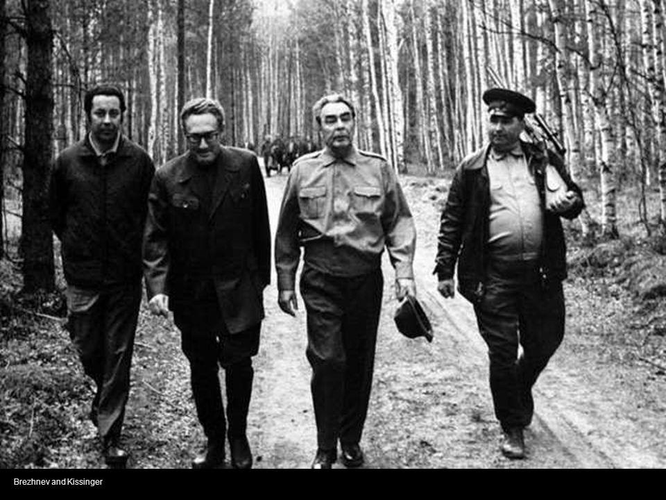 Leonid Brezhnev, Richard Nixon and Jill St John