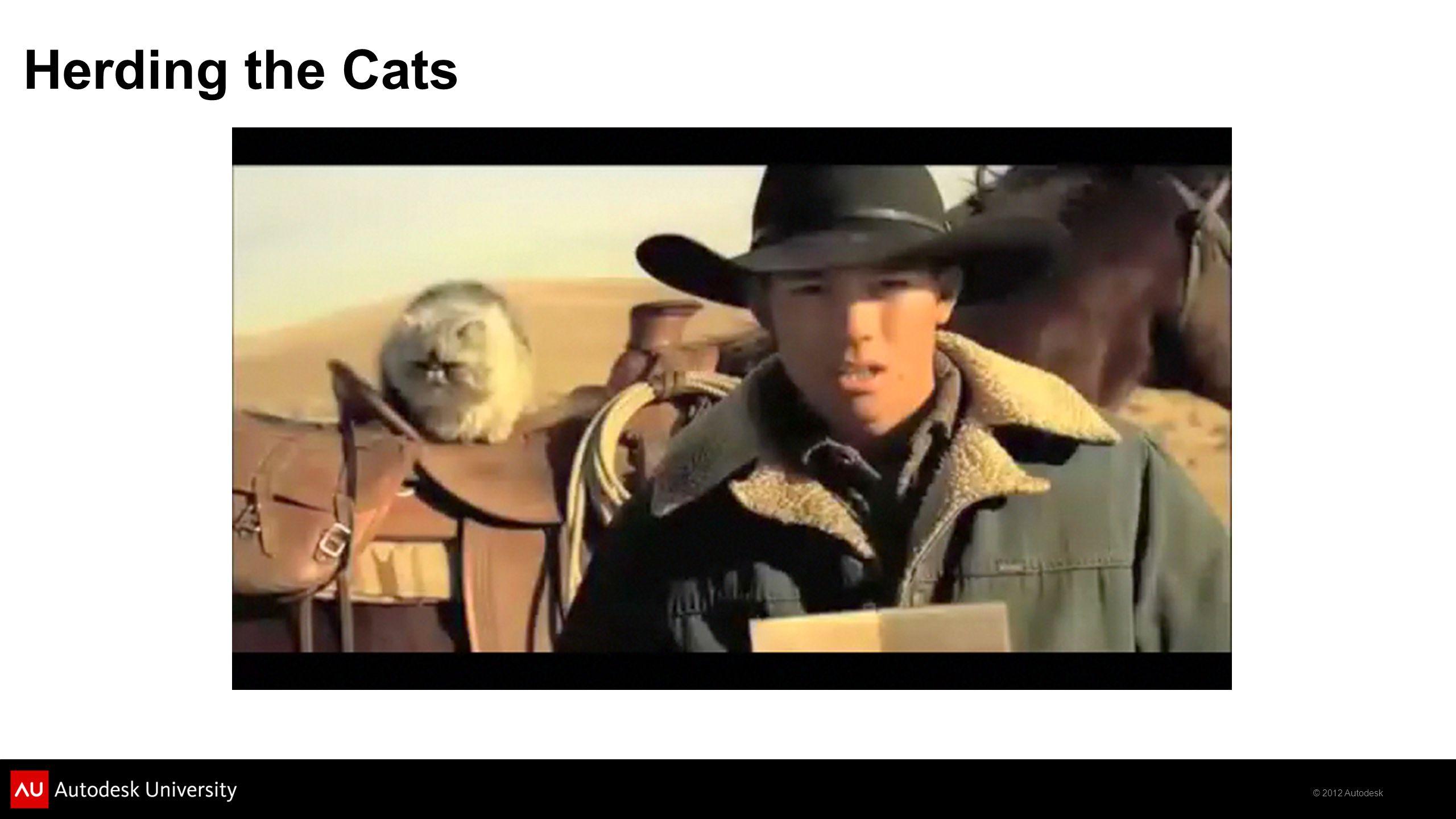 © 2012 Autodesk Herding the Cats
