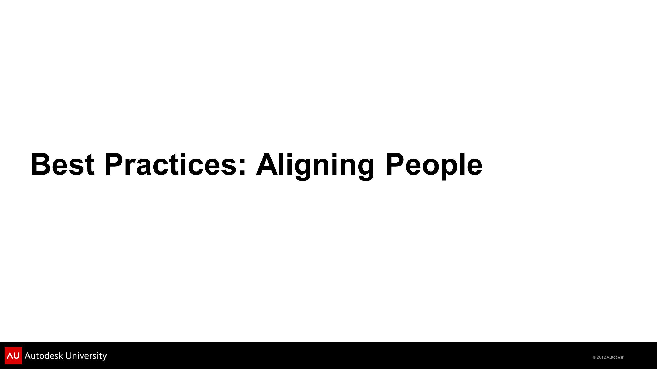 © 2012 Autodesk Best Practices: Aligning People