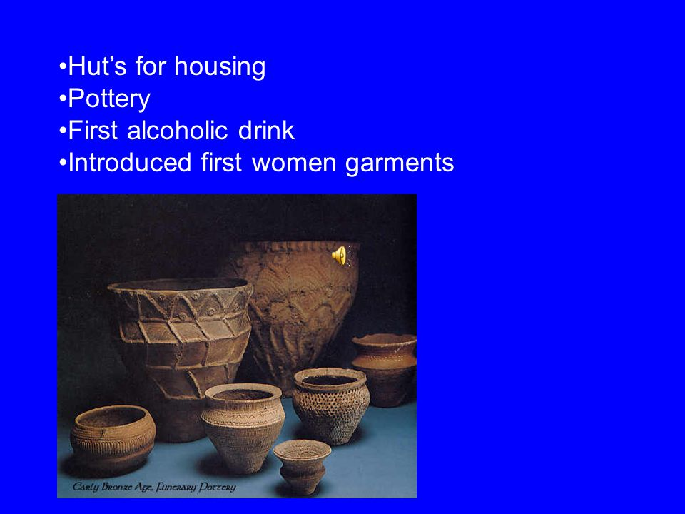 2500 B.C. the Beaker People arrive Farmers and archers First to work with metals Gold and copper then bronze
