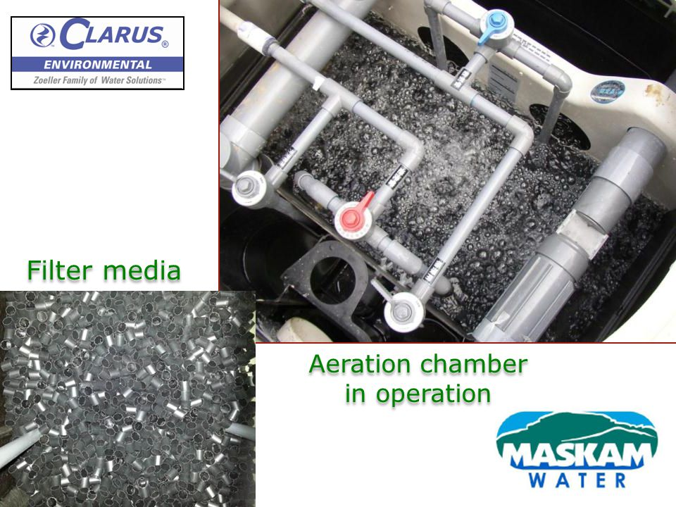 Aeration chamber in operation