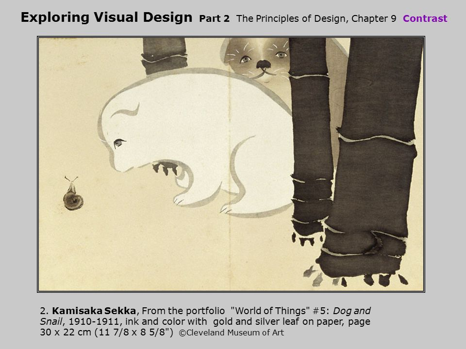 Exploring Visual Design Part 2 The Principles of Design, Chapter 9 Contrast 2. Kamisaka Sekka, From the portfolio