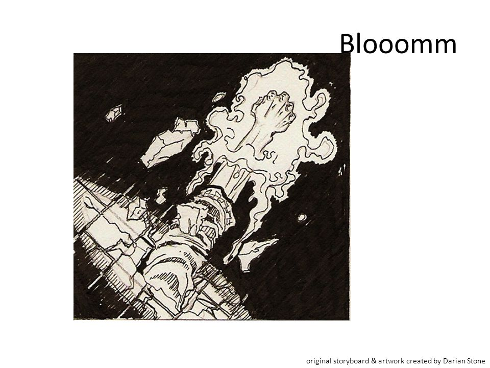 Blooomm original storyboard & artwork created by Darian Stone