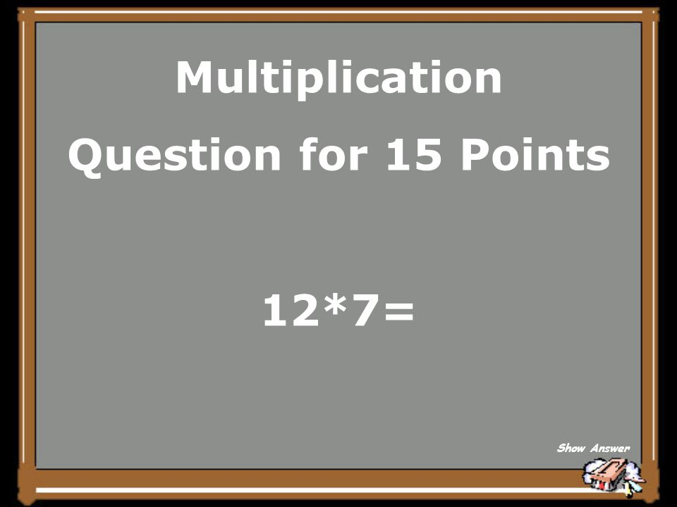 Multiplication What is 195? Back to Board