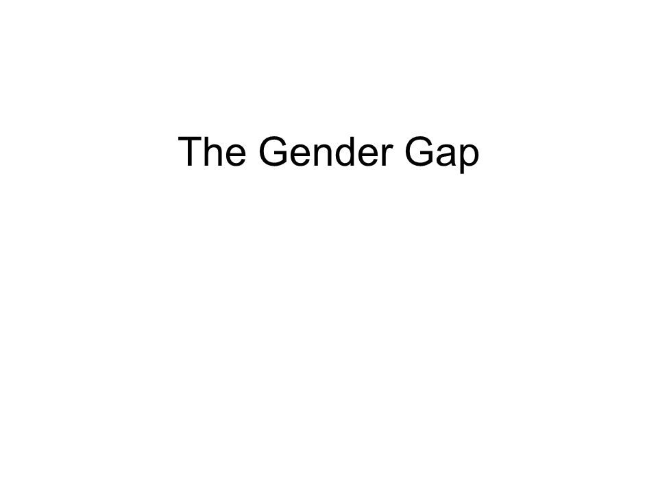 The Gender Gap