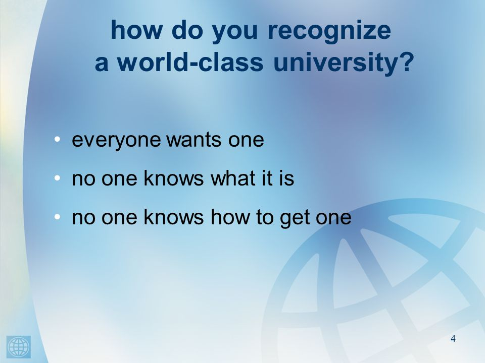4 how do you recognize a world-class university.
