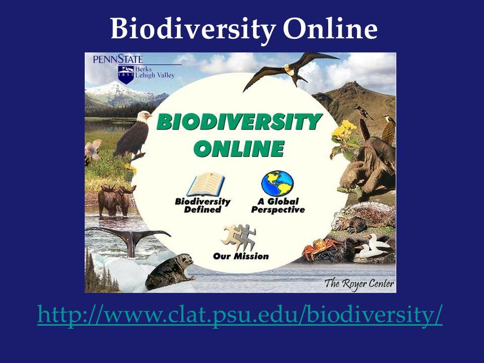 Biodiversity Online http://www.clat.psu.edu/biodiversity/