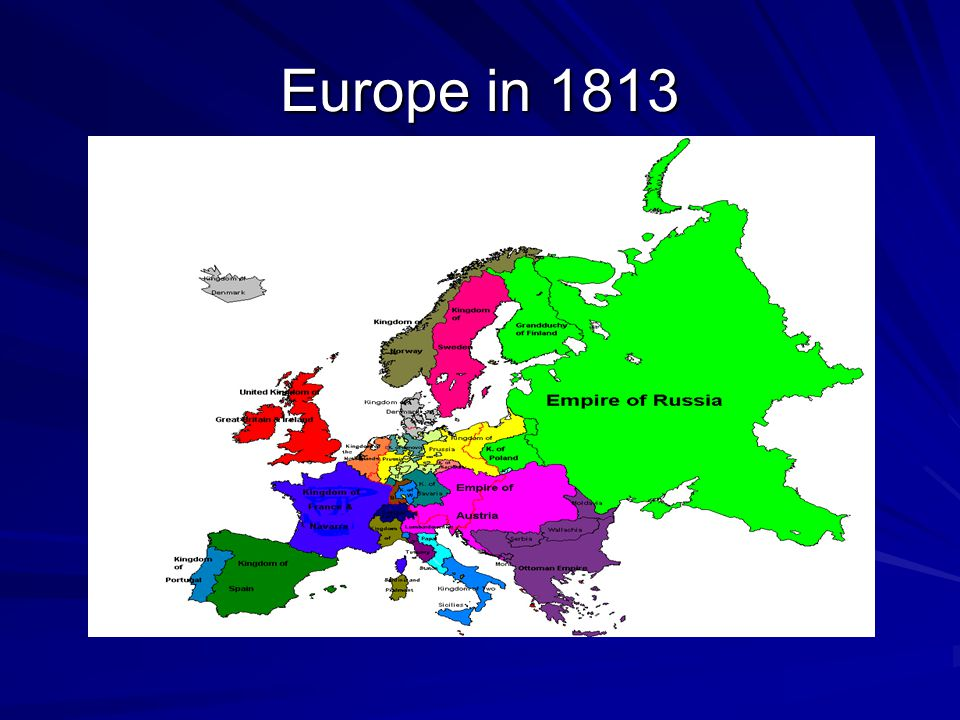 Europe in 1813