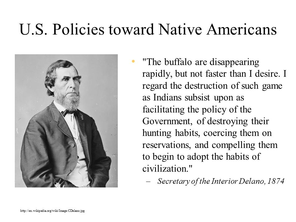 U.S. Policies toward Native Americans