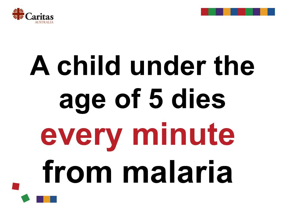 A child under the age of 5 dies every minute from malaria