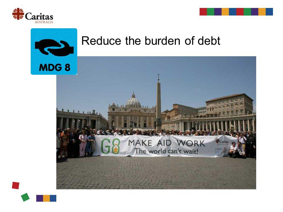 Reduce the burden of debt