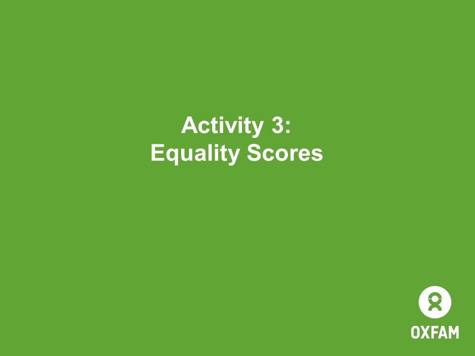 Activity 3: Equality Scores