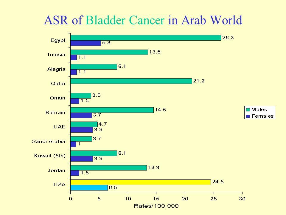 ASR of Bladder Cancer in Arab World