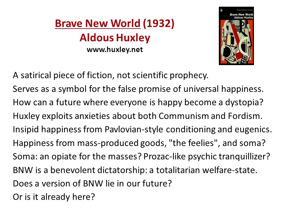 In 1931, when Brave New World was being written, I was convinced that there was still plenty of time.