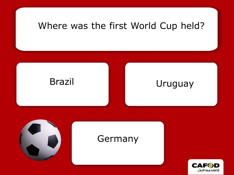 Correct! The first World Cup was held in 1930.
