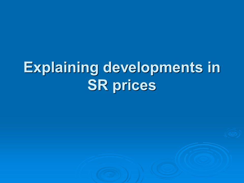 Explaining developments in SR prices