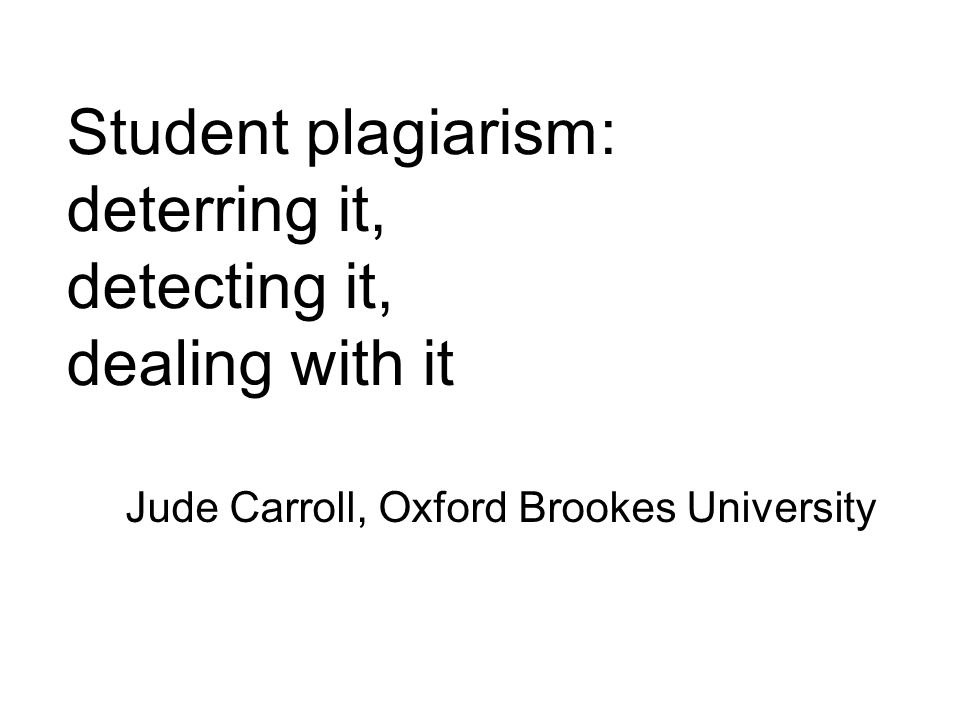 This is my plan for this lecture…… -Defining plagiarism.