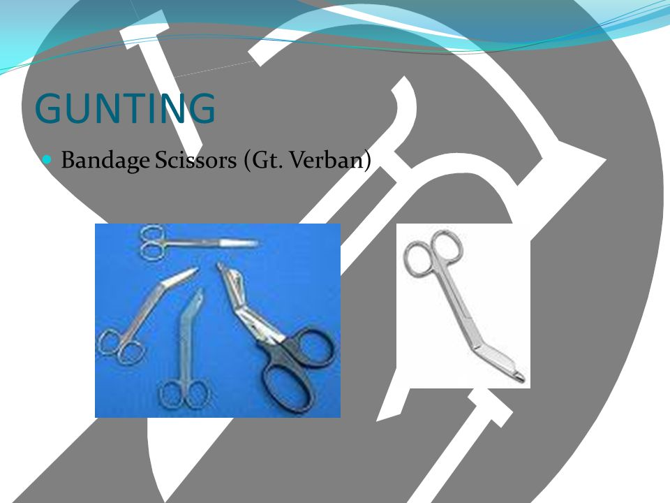 GUNTING Bandage Scissors (Gt. Verban)