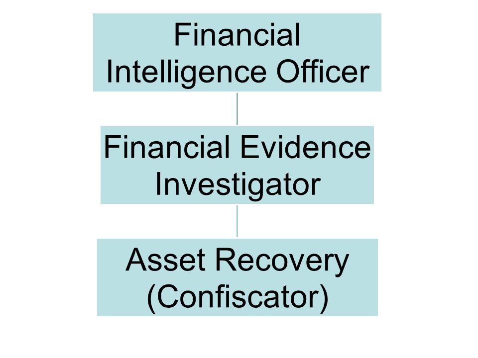 Financial Intelligence Officer Financial Evidence Investigator Asset Recovery (Confiscator)