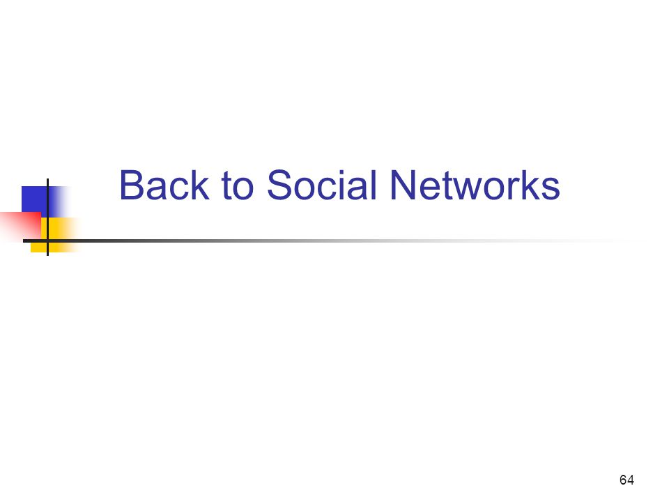 64 Back to Social Networks