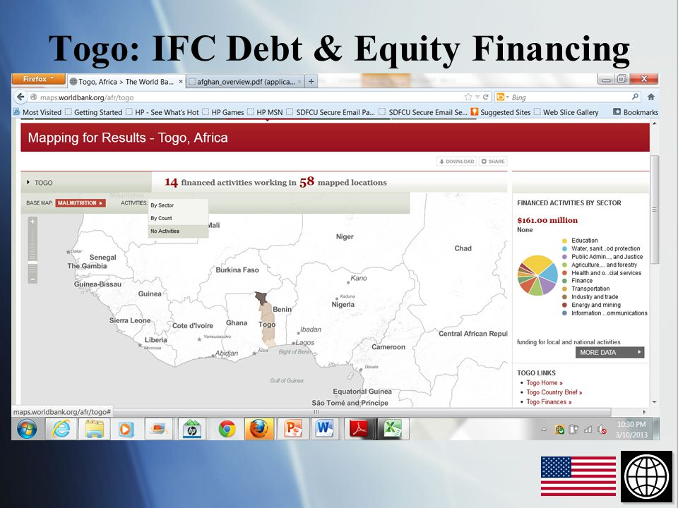 Togo: IFC Debt & Equity Financing