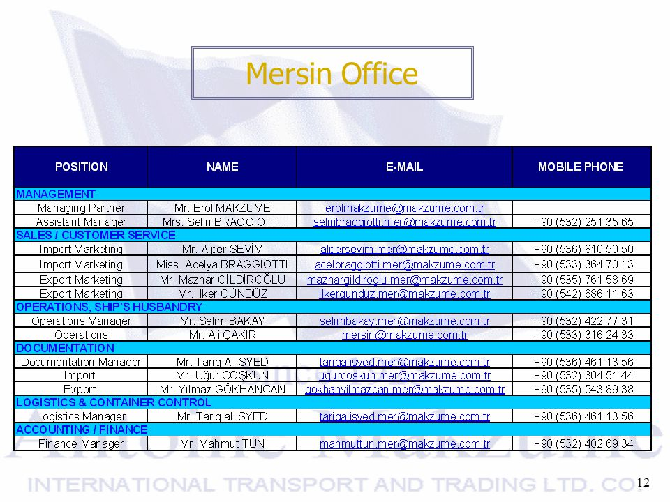 12 Mersin Office