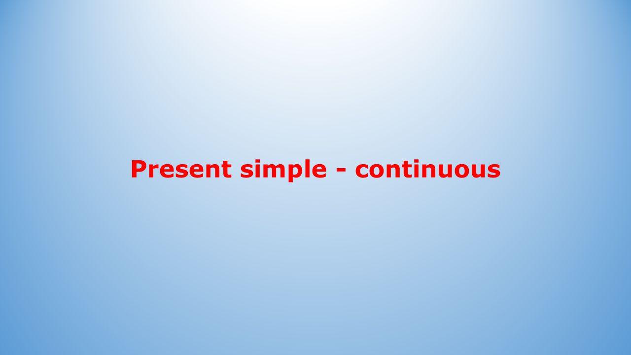 Present simple Present simple: Vorm: Bij feiten: Bij gewoontes: He always works quickly.