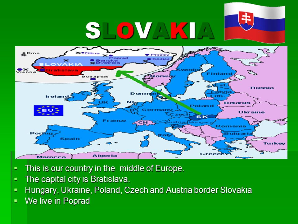 SLOVAKIASLOVAKIASLOVAKIASLOVAKIA  This is our country in the middle of Europe.