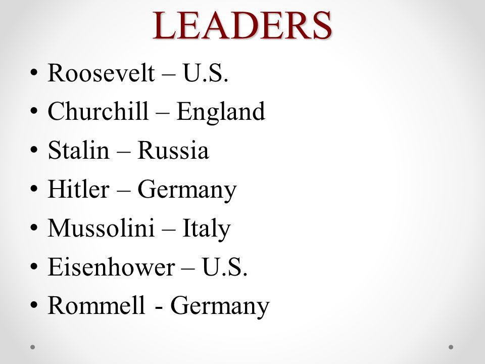 LEADERS Roosevelt – U.S.