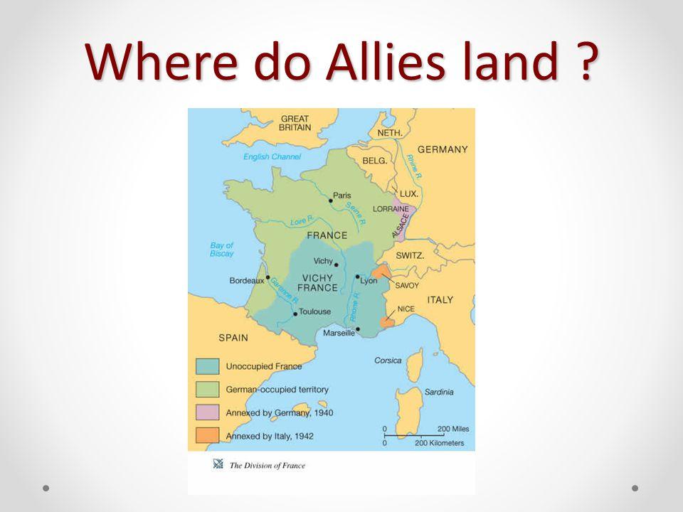 Where do Allies land