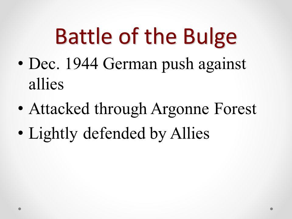 Battle of the Bulge Dec.