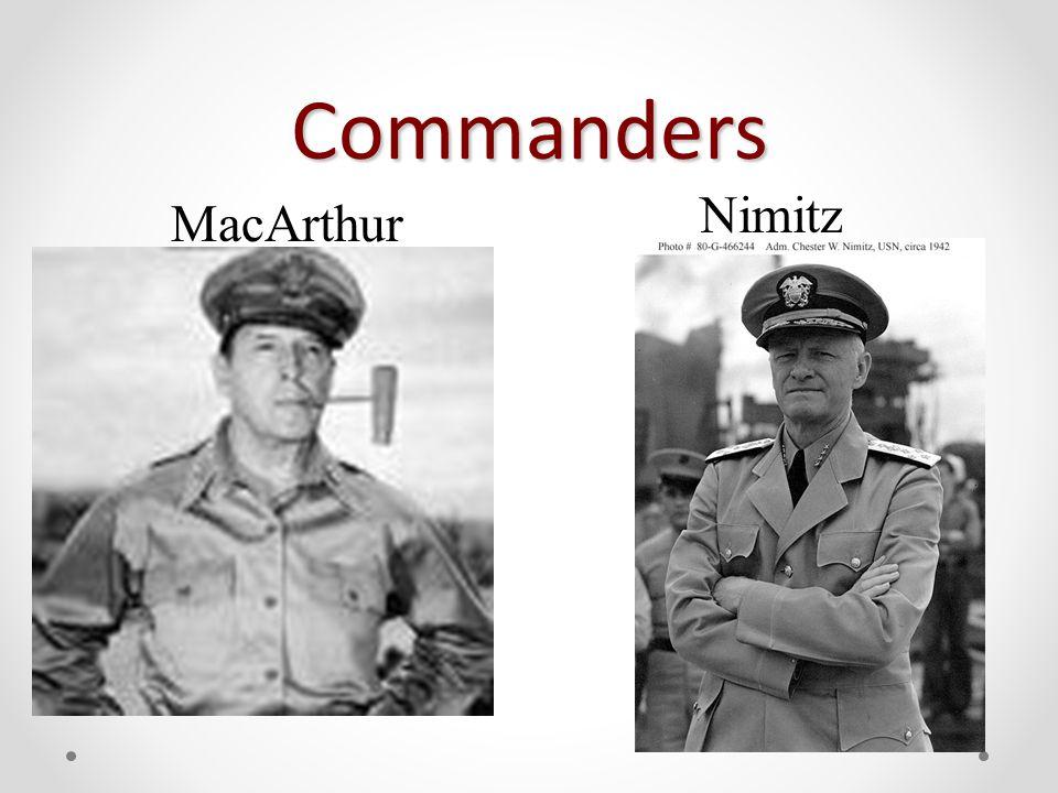Commanders MacArthur Nimitz