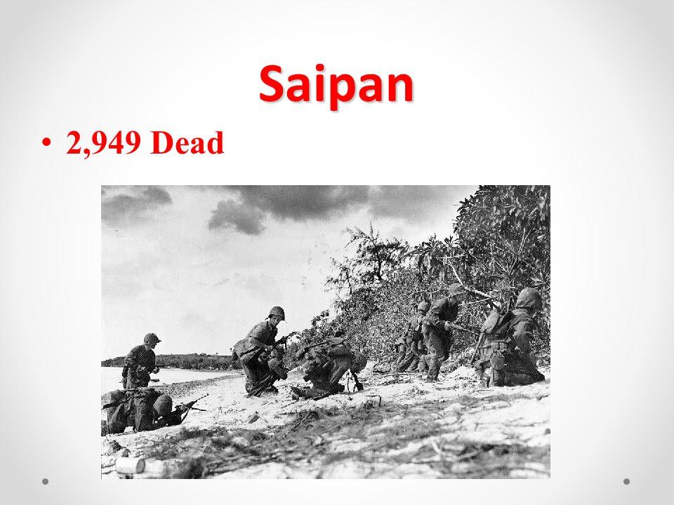 Saipan 2,949 Dead