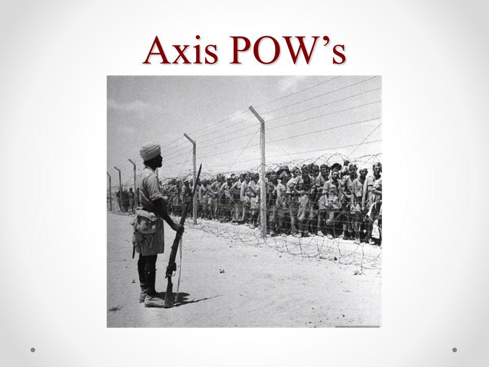Axis POW's